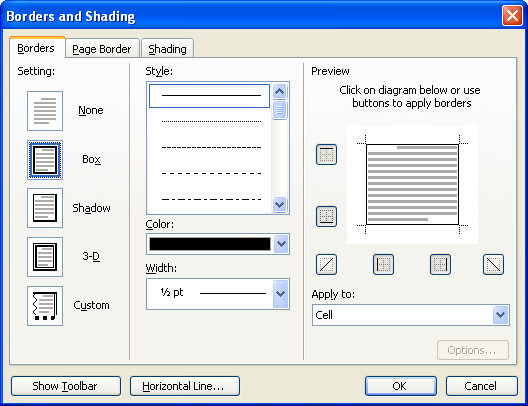Drawing Lines In Ms Word : Adding gridlines to a table microsoft word