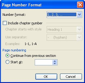 Using chapter numbers with page numbers microsoft word click on the format page number tool word displays the page number format dialog box see figure 1 ccuart Choice Image