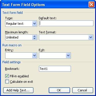 calculating form fields microsoft word