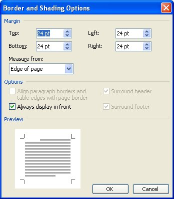 how to delete margins of whole page on word