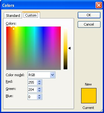 how to change text box colors in word