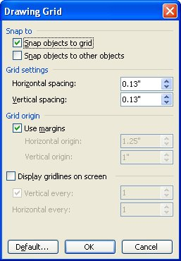 If You Are Using Word 97, The Snap To Grid Dialog Box Is Displayed. If You  Are Using Word 2000 Or Later, The Drawing Grid Dialog Box Is Displayed.  Ms Word Graph Paper