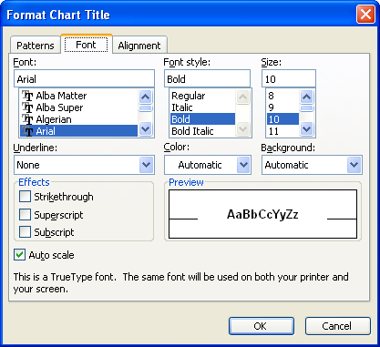 graph in word