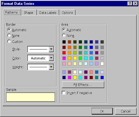 Specifying Colors In A Chart Microsoft Word