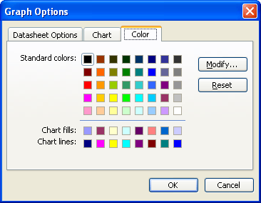Editing the Color Palette in Chart (Microsoft Word)