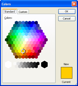 Editing The Color Palette In Chart Microsoft Word