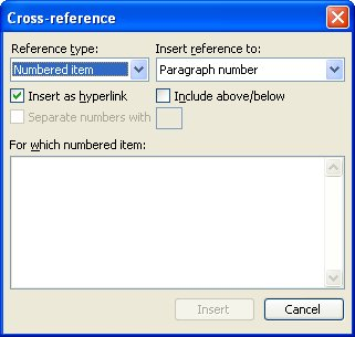how to add footnote references in word