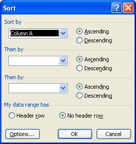 Controlling Sorting Order (Microsoft Excel)