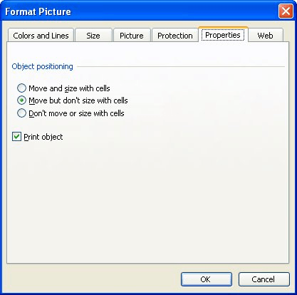 Figure 1 The Properties Tab Of Format Picture Dialog Box