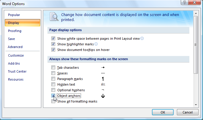 Stop Graphics And Text From Jumping Around Microsoft Word