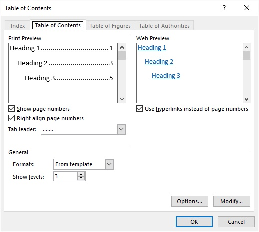 Using Multiple Tables Of Contents Microsoft Word