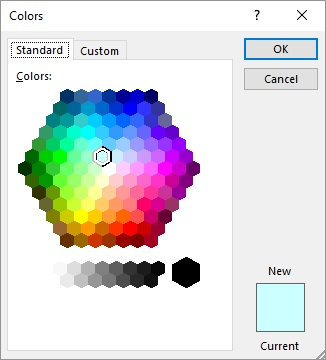 Copying Fill Color in a Table Microsoft Word