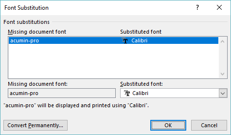 Finding Word's Font Substitutes (Microsoft Word)