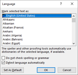 Spellcheck for Two Languages (Microsoft Word)