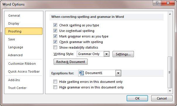 Spell Check Misses Misspelled Words Microsoft Word