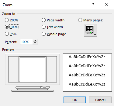 Viewing Multiple Pages (Microsoft Word)