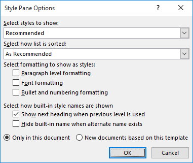 Changing the default font for envelopes microsoft word click options at the bottom of the styles pane word displays the style pane options dialog box see figure 1 yadclub Choice Image