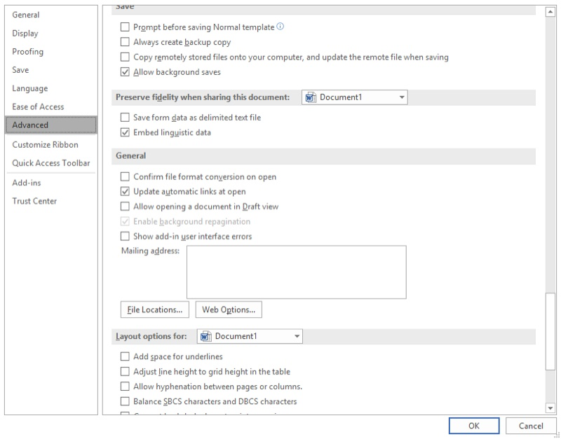 Setting The Return Address Used In Word Microsoft Word