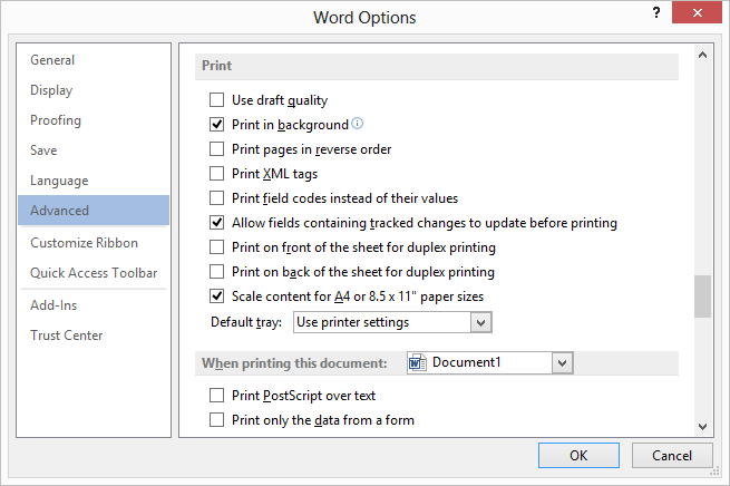 Microsoft Word 2007 Page Color Not Printing