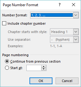 Using Chapter Numbers With Page Numbers Microsoft Word