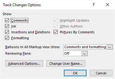 Turning Off Track Changes Change Bars (Microsoft Word)