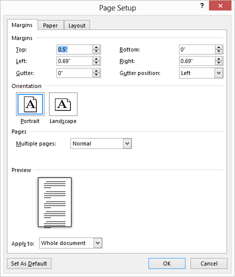 ms word how to remove section break