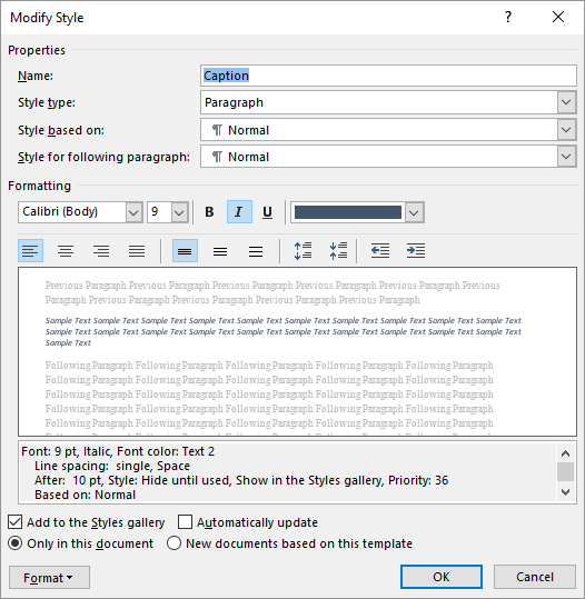 Preventing Styles from Changing (Microsoft Word)