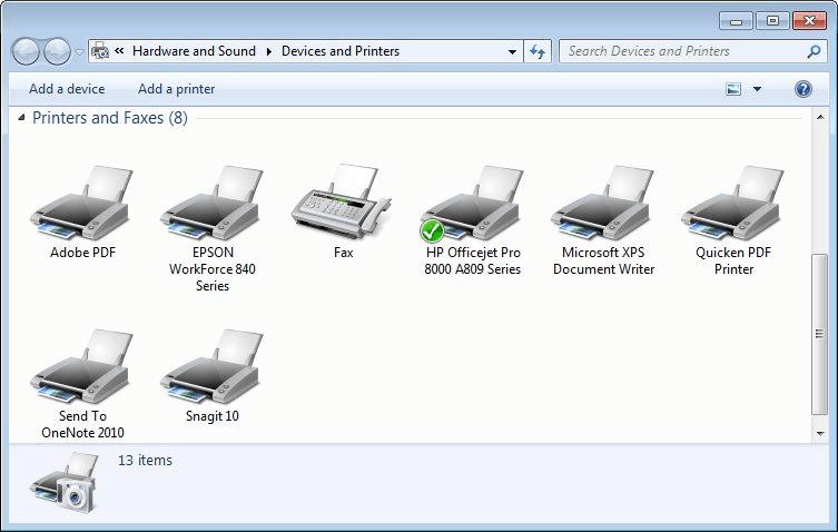 Specifying the Default Printer (Tips Net)