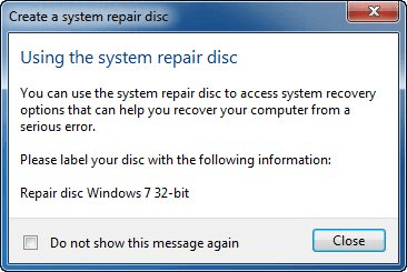 can i create a windows 7 repair disk from another computer