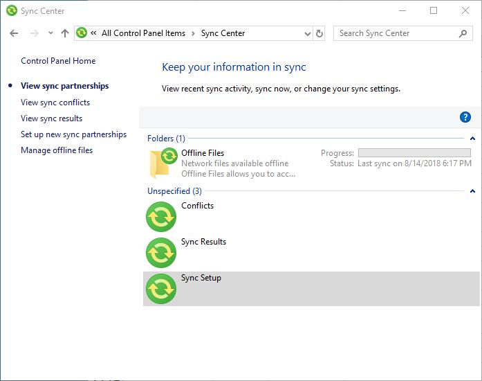 Using Sync Center (Tips Net)