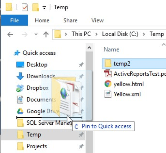 Pin Items to File Explorer's Quick Access View (Tips Net)