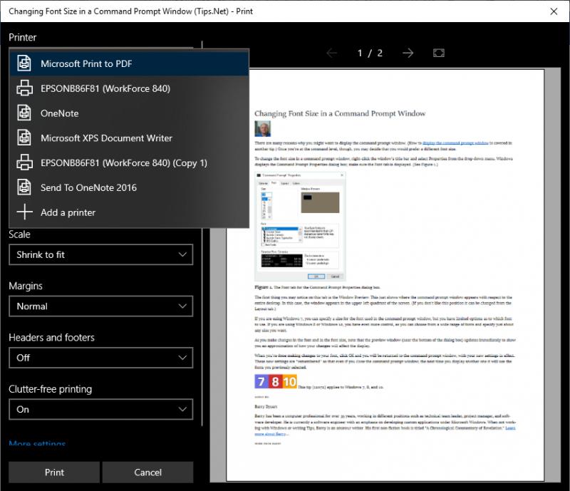 PDF on Demand (Tips Net)