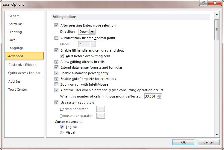 Scroll Wheel Doesn't Work when Editing (Microsoft Excel)