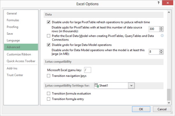 Slash Key No Longer Works As Expected Microsoft Excel. The Advanced Options In Excel Dialog Box. Worksheet. Insert Worksheet In Excel Not Working At Clickcart.co