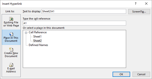 Jumping to a Specific Cell Using a Hyperlink (Microsoft Excel)