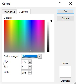 Converting HSL to RGB (Microsoft Excel)