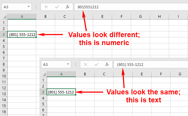 Adding Area Codes to Phone Numbers (Microsoft Excel)