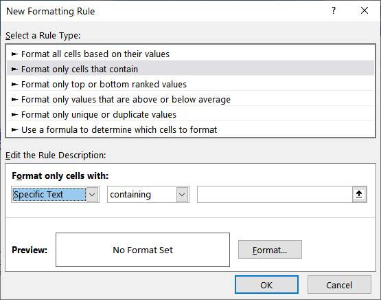 excel conditional formatting based on another cell value column