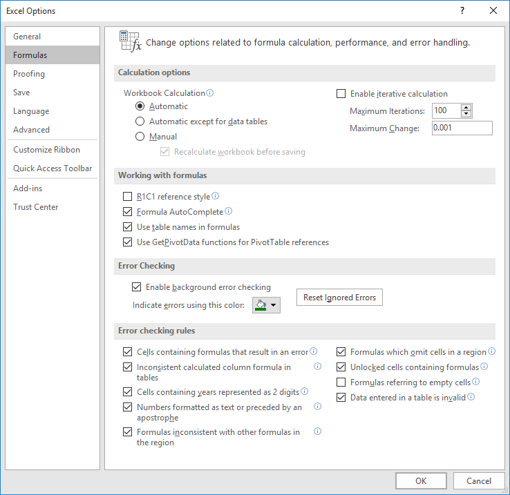 excel macro message box options