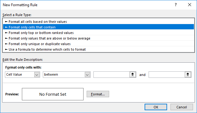 Conditional Formats that Distinguish Blanks and Zeroes (Microsoft Excel)