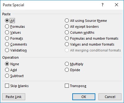 Replacing Links with Values (Microsoft Excel)