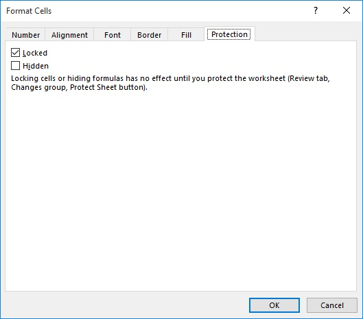 Hiding and Protecting Columns (Microsoft Excel)