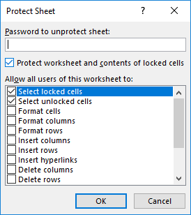 protect data in excel 2013