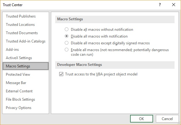 Automatically Enabling Macros for Specific Workbooks (Microsoft Excel)