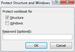 Protecting an entire workbook microsoft excel protect workbook tool in the changes group protect group if you are using excel 2016 excel displays the protect structure and windows dialog box ibookread