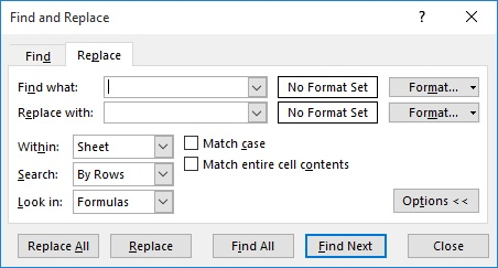 Replacing Background Colors in Cells (Microsoft Excel)