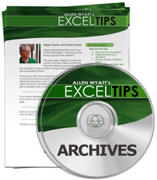 ExcelTips Menu 2013 Archive (Table of Contents)