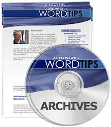 WordTips Menu 2016 Archive (Table of Contents)