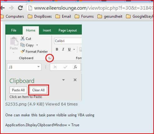 Clearing Large Clipboard Entries (Microsoft Excel)