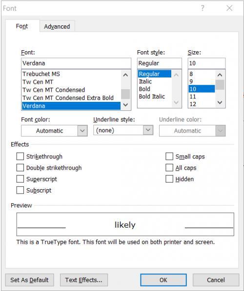 Engraving Text (Microsoft Word)